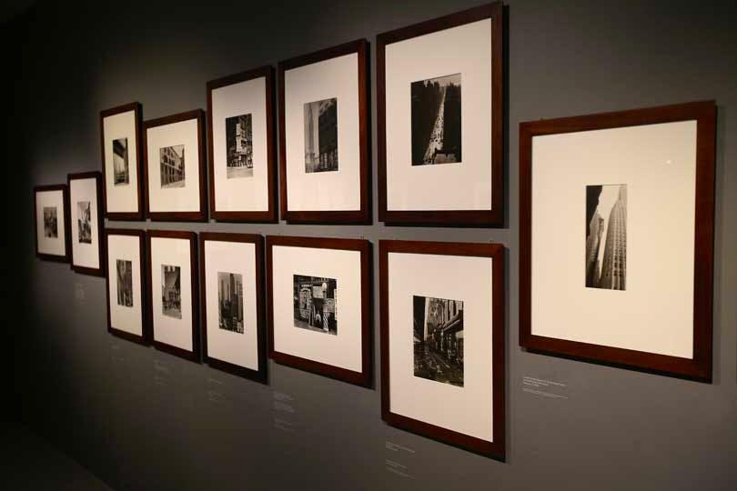 Berenice Abbott's photographs in 'Constructing Worlds'.