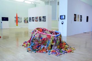 Installation view of Bloomberg New Contemporaries, World Museum Liverpool, 2014.