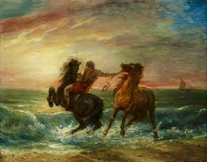 'Horses frightened by the Waves', François Pascal Simon, Baron Gérard. Courtesy Thos. Agnew's & Son
