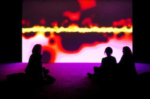 Installation view, 'MIRRORCITY' at Hayward Gallery 2014.