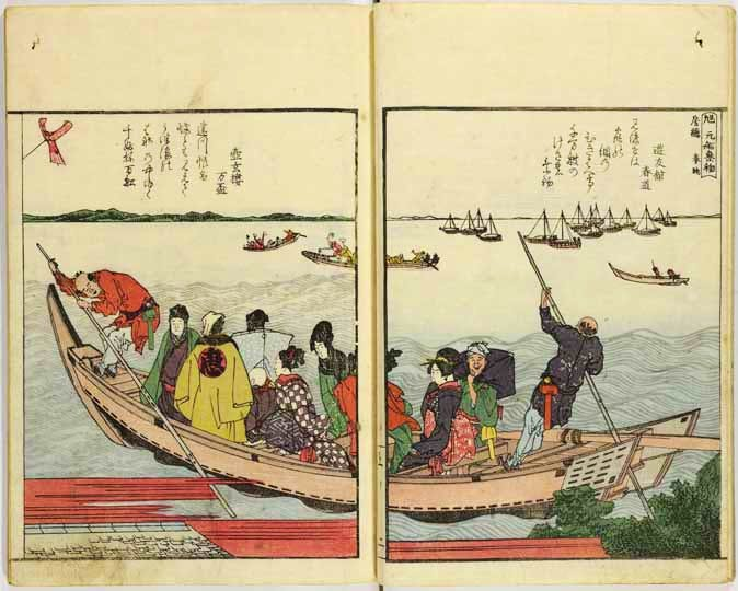 (Illustrated book, Both Sides of the Sumida River at a Glance) (c. 1805–6), Katsushika Hokusai