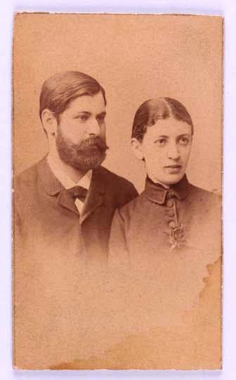 Martha and Sigmund Freud, Wedding Portrait (1886)