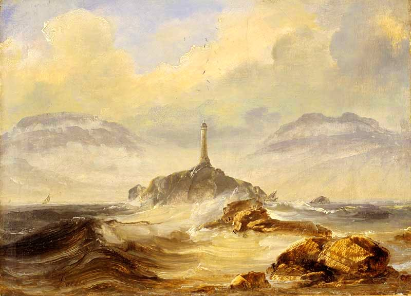 'Lighthouse on the Coast' (probably 1860s), Peder Balke © The National Museum of Art, Architecture and Design, Oslo, photo Jacques Lathion