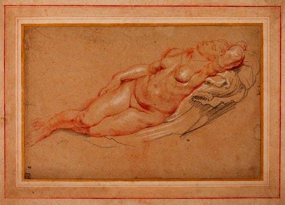 'Female nude', Peter Paul Rubens. The Samuel Courtauld Trust, The Courtauld Gallery, London