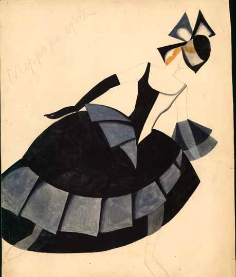 costume design for 'The Bolt' (1931), Tatiana Bruni.