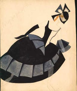 costume design for 'The Bolt' (1931), Tatiana Bruni.