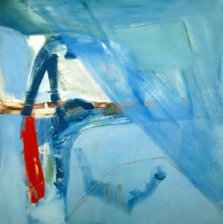 (1960), Peter Lanyon (1918–1964), 152.4 x 152.4 cm, oil on canvas