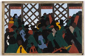 Panel 1 from 'The Migration Series' (1940–41), Jacob Lawrence
