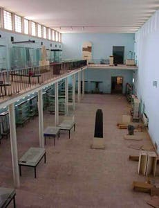 One of the galleries of the National Museum of Iraq after the looting. Staff had emptied most of the cabinets in time; the looting was from store rooms.