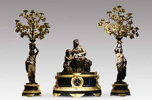 Mantlepiece garniture, third quarter 19th century. French, Napoleon III period.