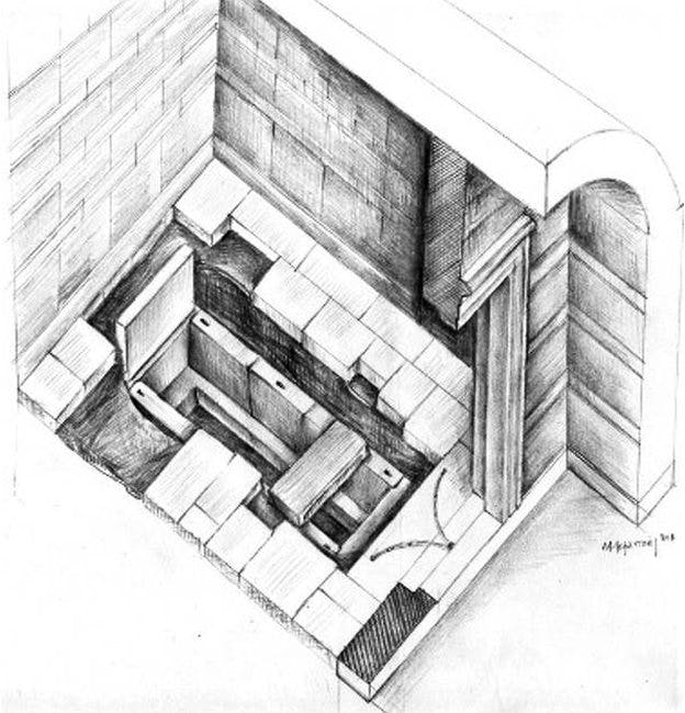 A sketch of the tomb.