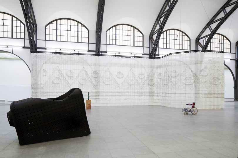 'Mariana Castillo Deball: Parergon.' Installation view at the Hamburger Bahnhof - Museum für Gegenwart Bruns