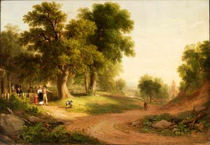 'Sunday Morning' (1839), Asher B. Durand. The New-York Historical Society, Gift of the children of the artist, through John Durand