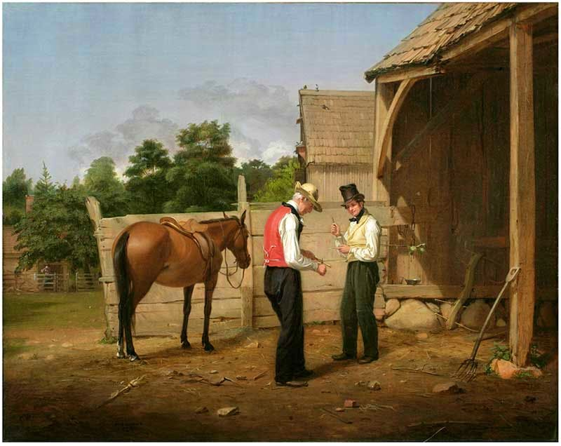 'Farmers Bargaining (later known as Bargaining for a Horse)' (1835), William Sidney Mount. The New-York Historical Society, Gift of The New-York Gallery of the Fine Arts