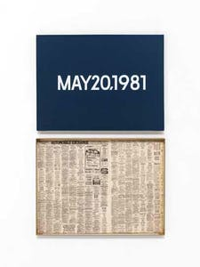 'Wednesday', New York, from 'Today' (1966–2013), On Kawara.