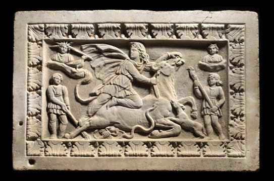 Mithras relief panel,
