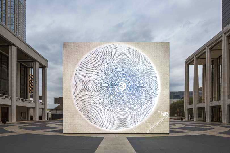Installation image from Solar Reserve at Lincon Centre, New York, presented in association with the Public Art Fund.