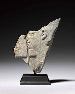 Egyptian fragment with profile of god or pharaoh (30th Dynasty-Early Ptolemaic Period, c. 350–300 BC)