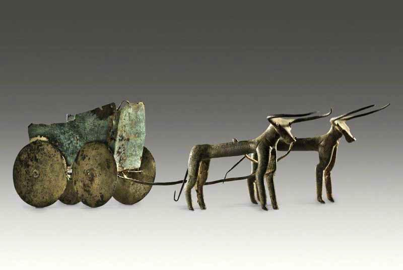 Chariot drawn by bulls (Pre-Hittite; third to early second millenium BC).