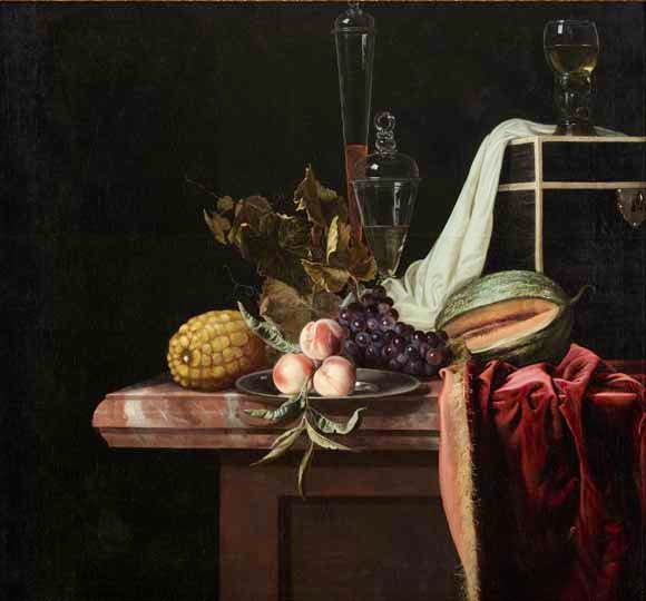 'Still life with fruit and glass' (1670–1680), Henri de Fromantiou. Collection: Bonnefantenmuseum. Photo: Peter Cox