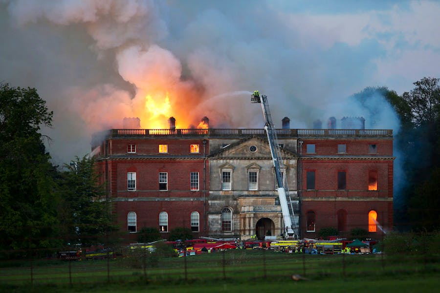 The National Trust is launching an international design competition to restore Clandon Park, the 18th century Palladian house that was gutted by fire in 2015