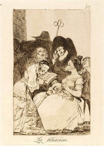 (1796–97), from 'Los Caprichos (1799), Francisco de Goya.