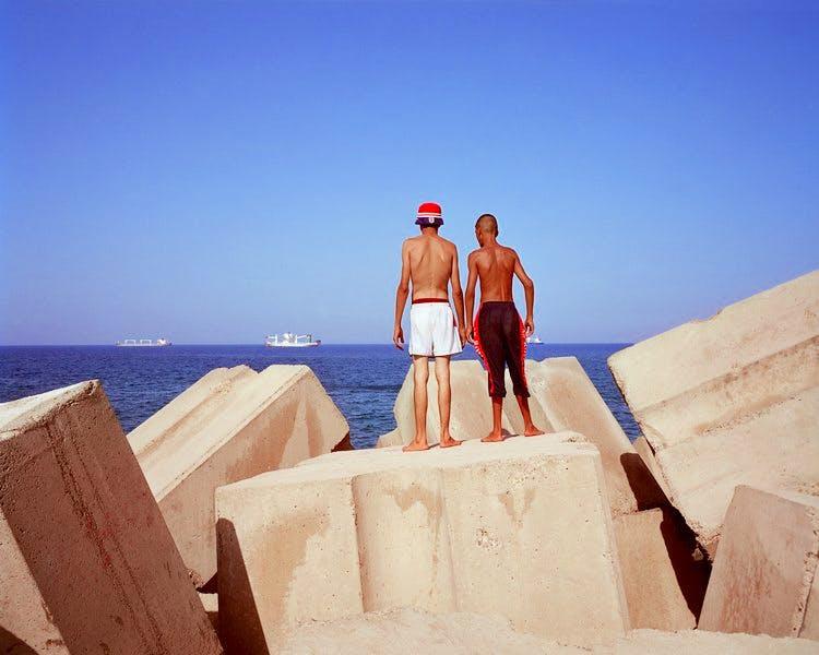 From the 'Rochers Carrés' photographs (2008), Kader Attia.