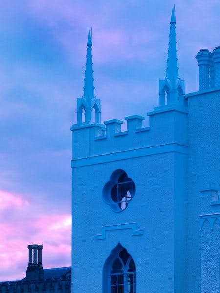 Twilight at Strawberry Hill.