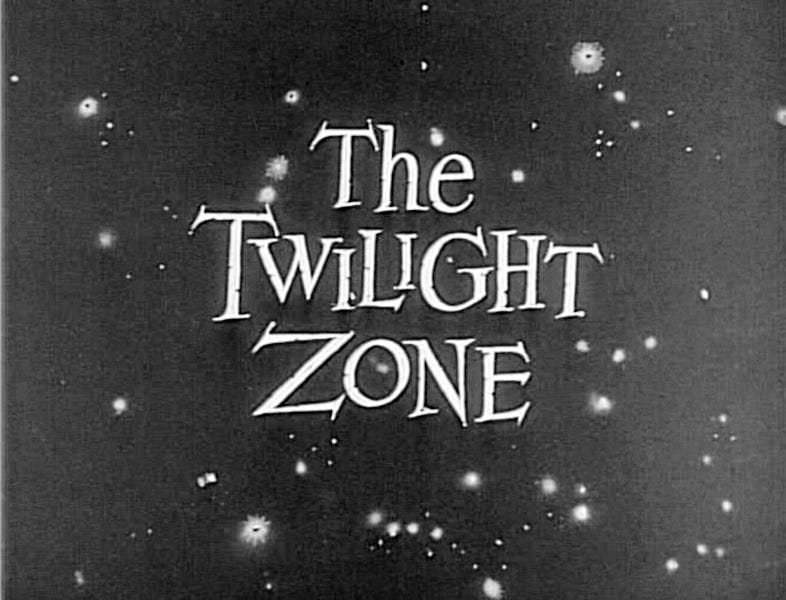 Still from the opening credits of 'The Twilight Zone' (Season 1, November 20, 1959)