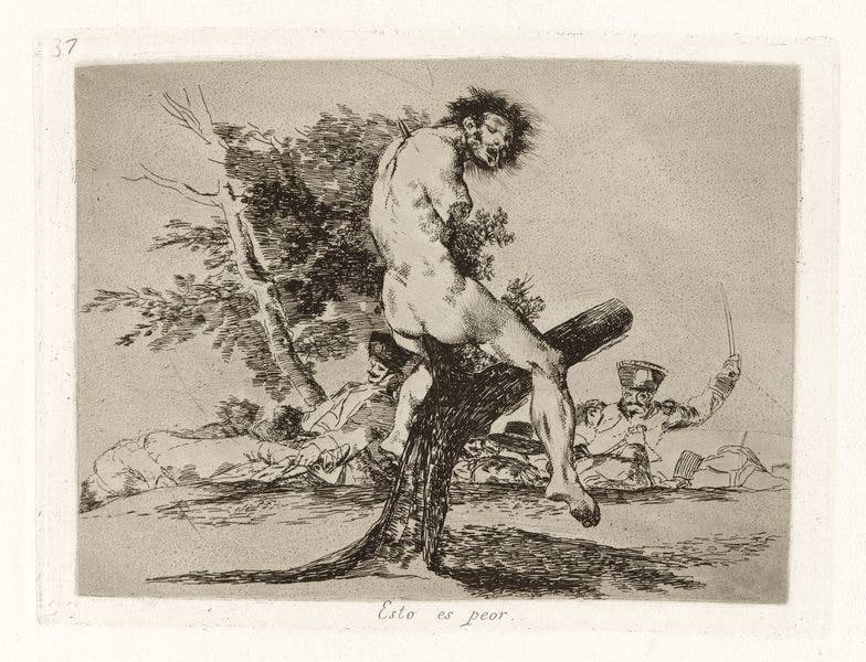 from 'The Disasters of War (1810–20), Francisco de Goya.