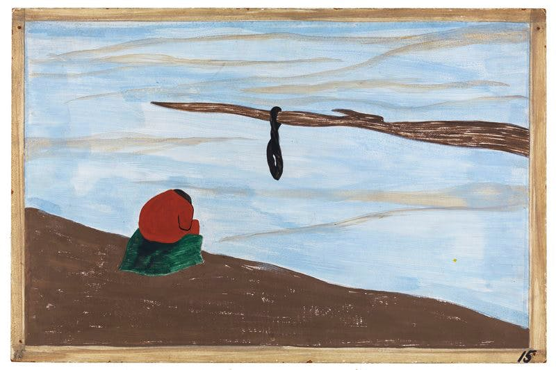 Panel 15 from 'The Migration Series' (1940–41), Jacob Lawrence