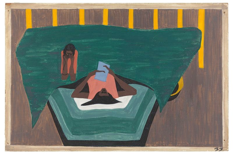 Panel 33 from 'The Migration Series' (1940–41), Jacob Lawrence