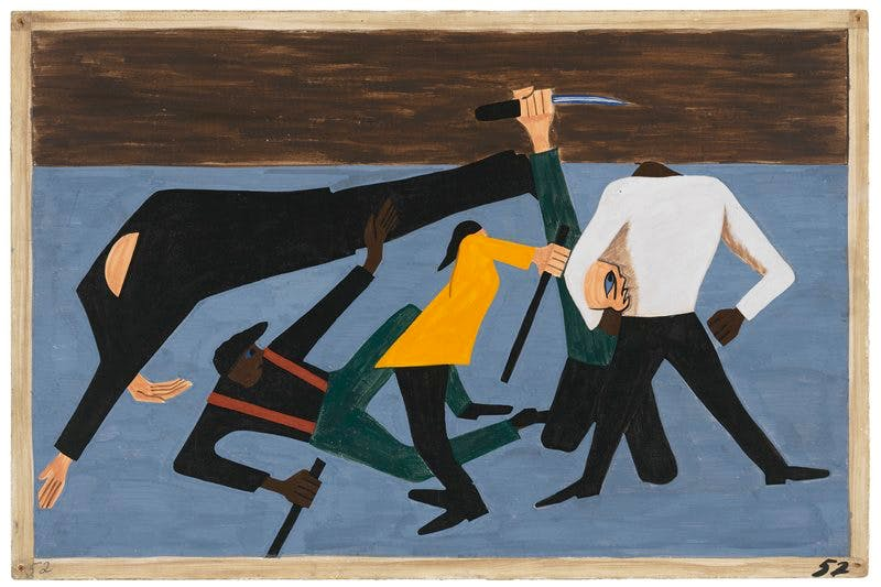 Panel 52 from 'The Migration Series' (1940–41), Jacob Lawrence