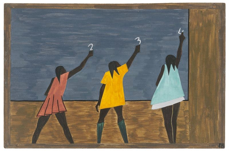 Panel 58 from 'The Migration Series' (1940–41), Jacob Lawrence