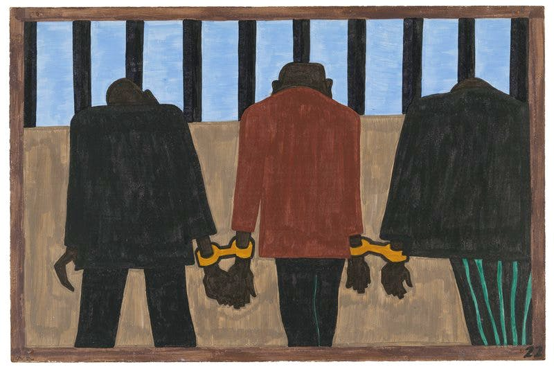 Panel 22 from 'The Migration Series' (1940–41), Jacob Lawrence