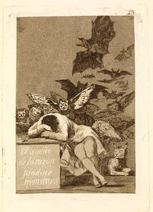 from 'Los Caprichos' (43) (c. 1797–98), Francisco de Goya