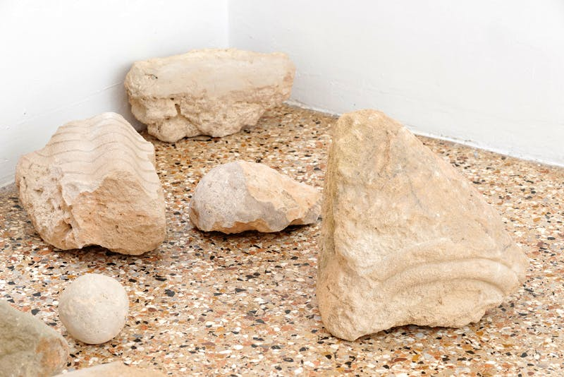Limestone sculptures by Christodoulos Panayiotou at the Cyprus Pavilion
