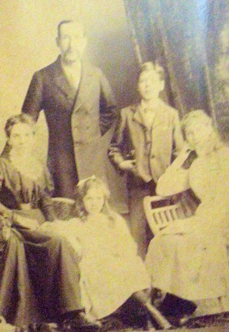 David Parr with his family