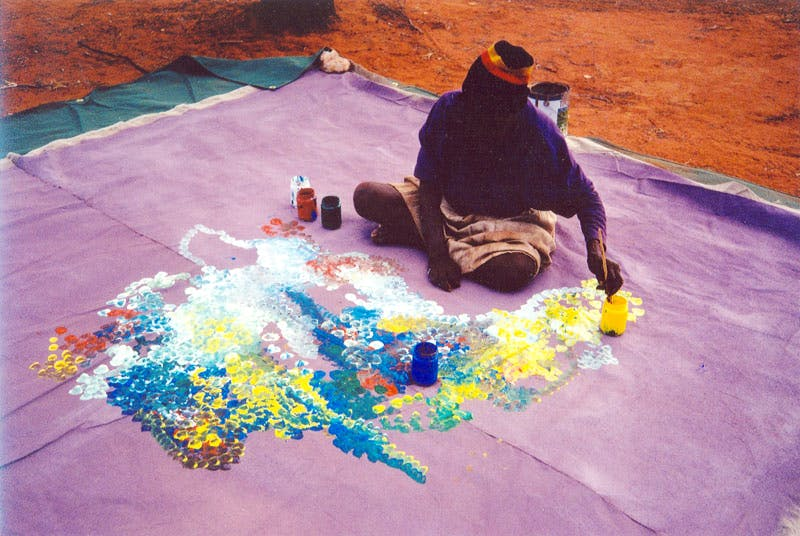 Emily Kame Kngwarreye painting 'Earth's Creation' (1994).