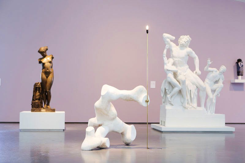 Installation shot of 'Plaster: Casts and Copies' at The Hepworth Wakefield. Photo by Tom Arber