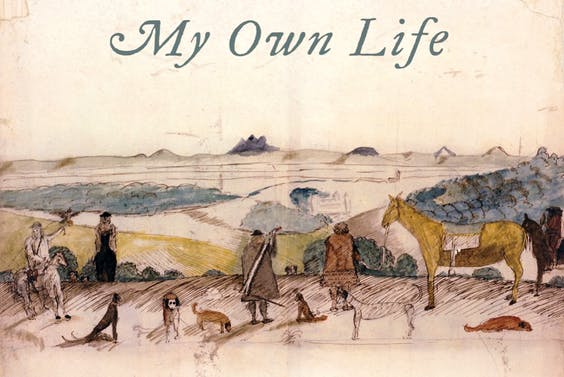 Cover jacket (detail), 'John Aubrey: My Own Life' by Ruth Scurr