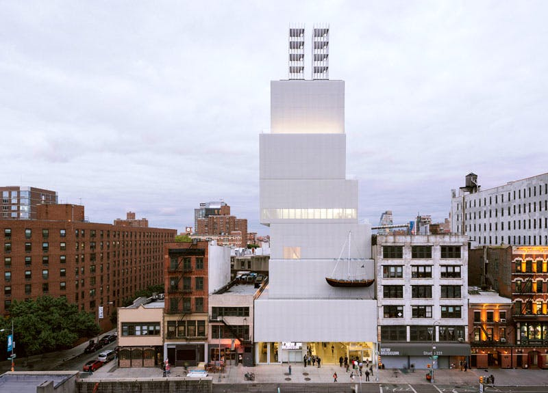'Ghost Ship' on the New Museum facade.