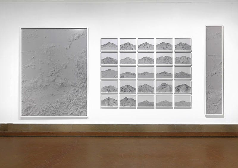 (Installation view, Mount Shasta; 2012), Dan Holdsworth.