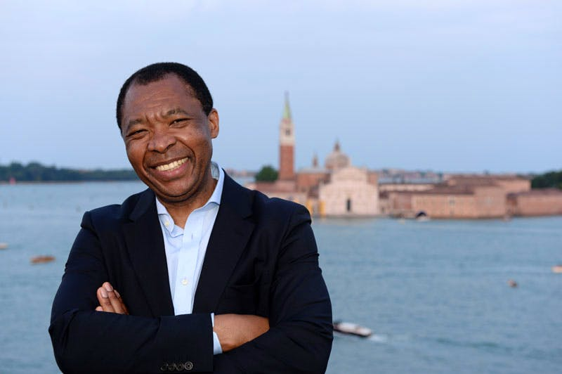 Okwui Enwezor, curator of All the Worlds Futures, the 56th International Art Exhibition, Venice 9 May–22 November).