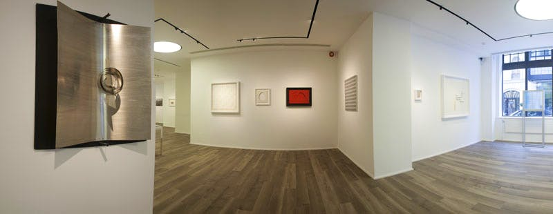 Installation photo: 'Atmosfera ZERO Great Expectations #2', at Cortesi Gallery, London.