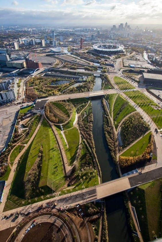 Queen Elizabeth Olympic Park, London.