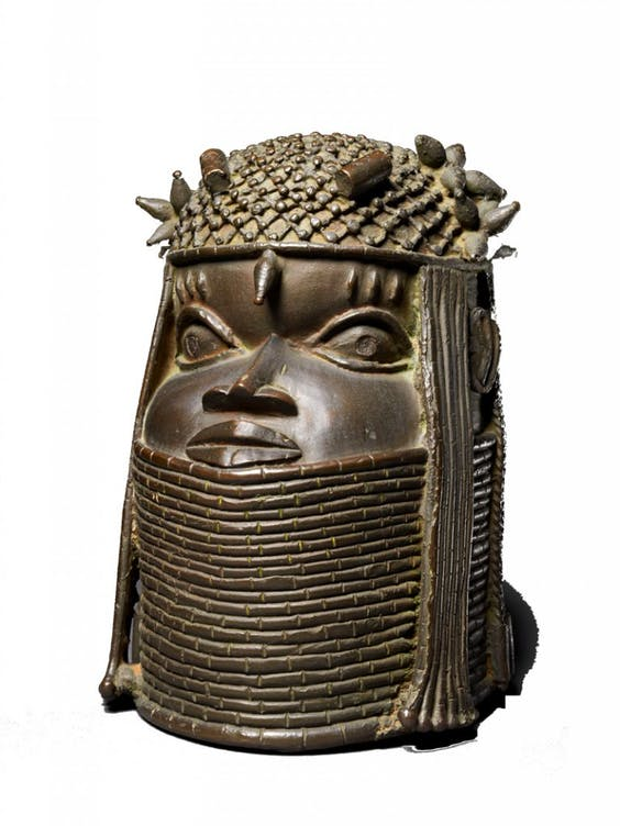 Commemorative Head of a King (16th–17th century,) Benin.