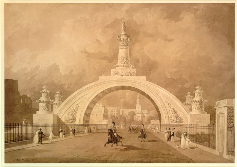 John Martin's design of 1820 for a national monument to commemorate the battle of Waterloo