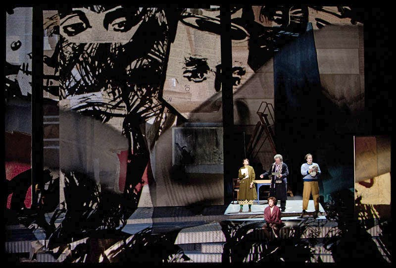 Scene from 'Lulu' by Alban Berg (1885-1935), staged by William Kentridge and performed by the Dutch National Opera, for the Holland Festival in Amsterdam, June 2015.