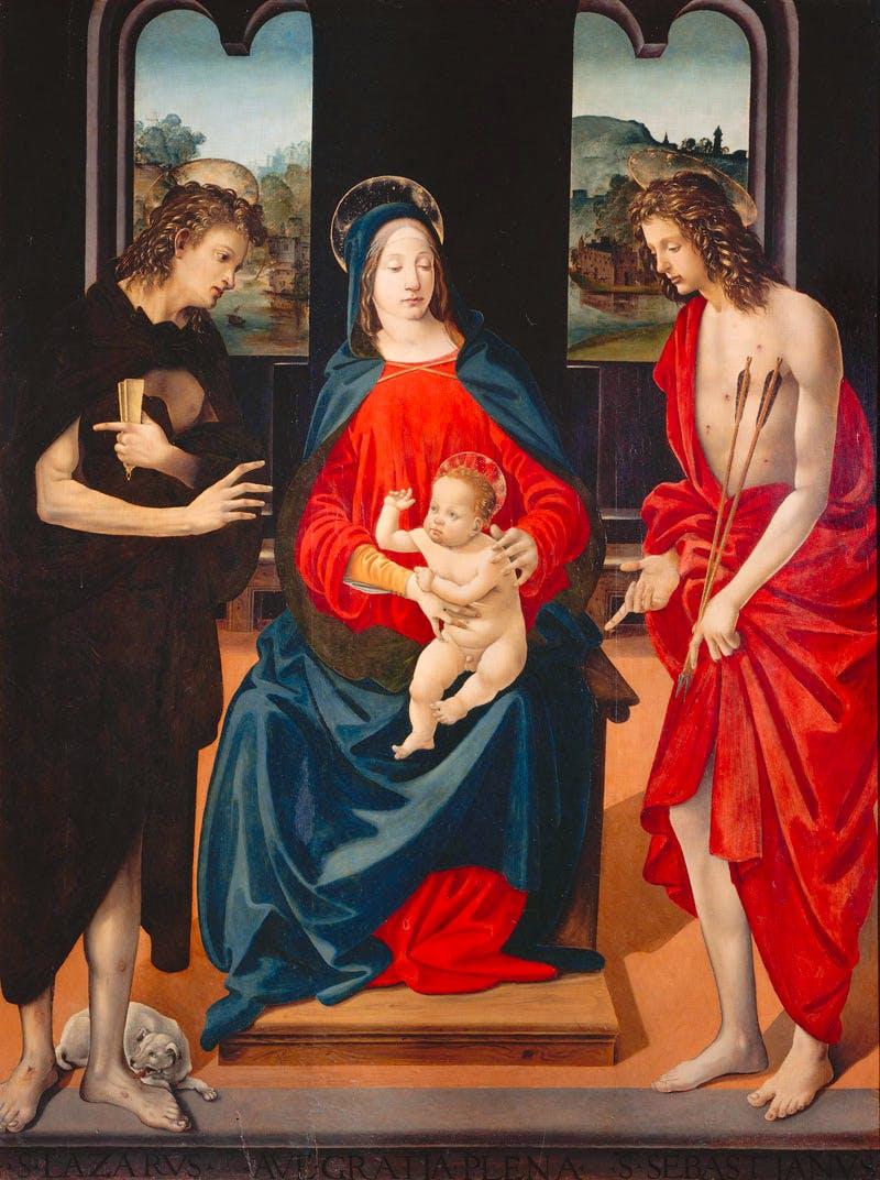 (c. 1480-85), Piero di Cosimo, oil and tempoera on panel, 165 x 123cm.